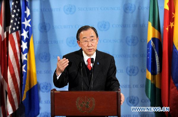 "UN chief calls for ""orderly and peaceful transition"" in Egypt"