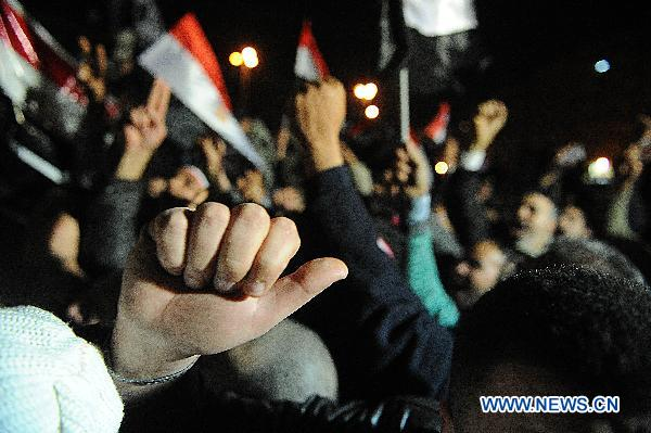 Egyptians continue to protest after Mubarak's speech