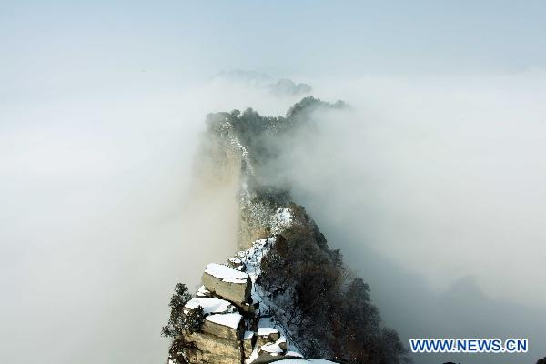 Snow visits Shennong Mountain in C China