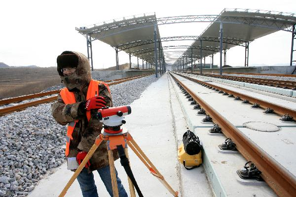Harbin-Dalian high-speed railway under construction
