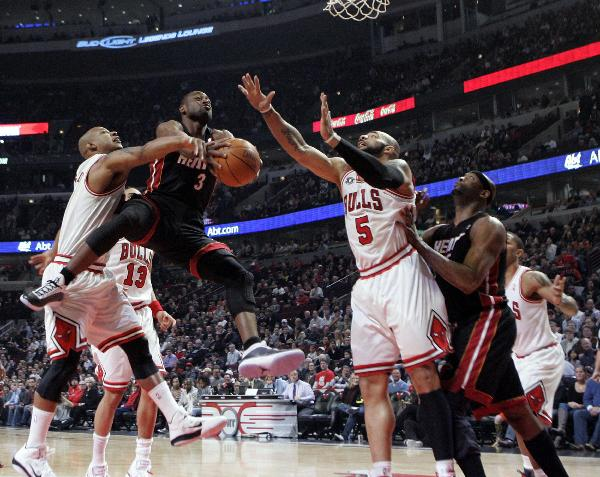 NBA: Bulls beat Heat 93-89