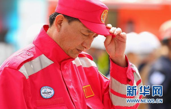 Chinese rescuers mourn for victims in Christchurch quake