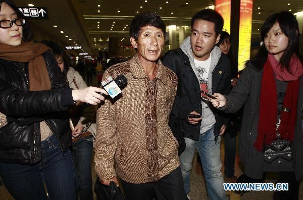 Chinese sailors released by Somali pirates arrive in Shanghai