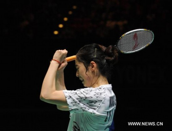 Wang Shixian triumphes at All England Badminton