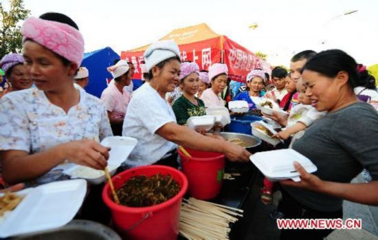 Dai ethnic group supports after-quake relief work