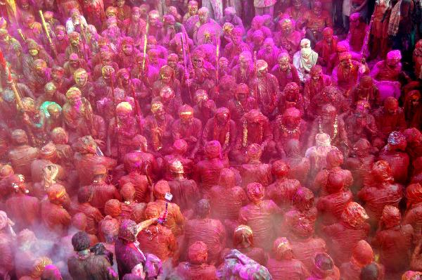 Holi -- festival of colors in India