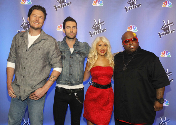 Christina Aguilera promotes TV series 'The Voice'