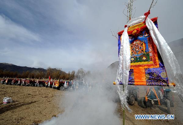 Tibetans hold spring ploughing ceremony