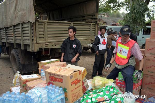 Quake relief work begins in Myanmar