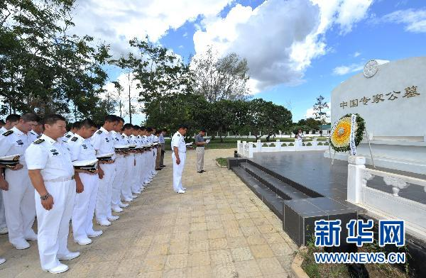 Crew of Chinese naval escort mourn for fallen comrades