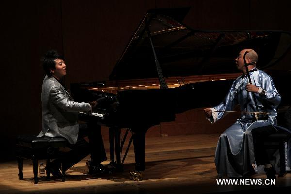 Pianist Lang Lang performs in Paris