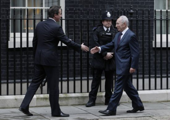 British PM meets with visiting Israeli president
