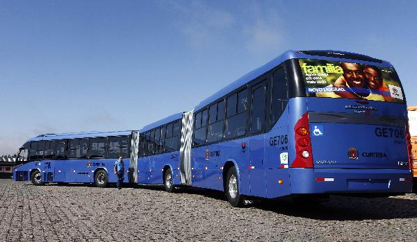 World's longest articulated bus makes debut in Brazil