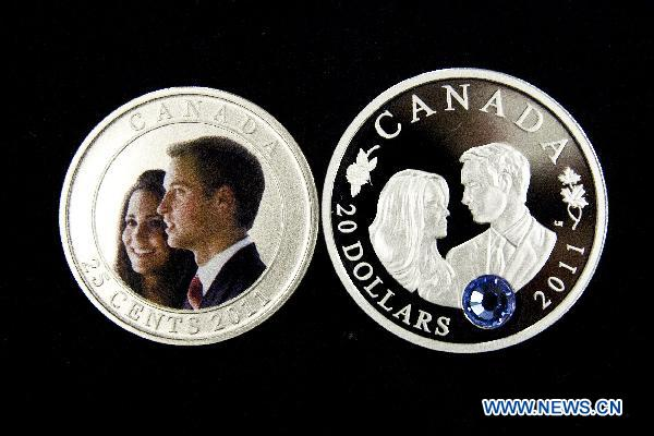 Canada unveils collector coins commemorating royal wedding