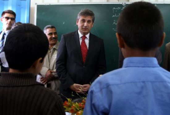 Austrian Foreign Minister visit UN school in Nussirat refugee camp in Gaza