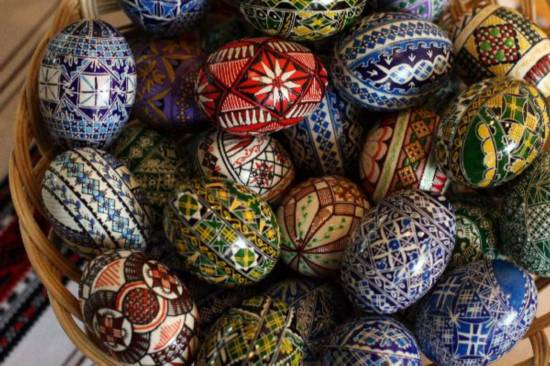 Painted eggs prepared for coming Easter