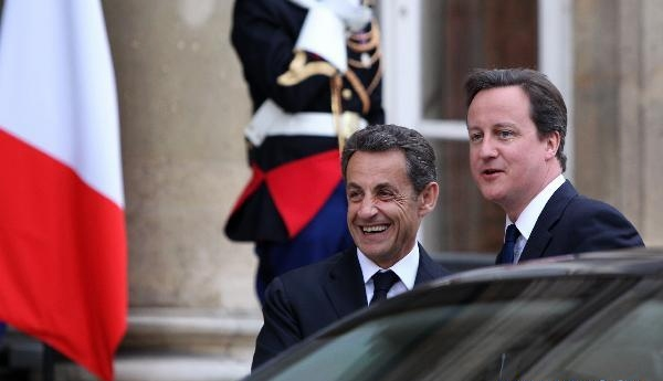 Sarkozy meets Cameron ahead of meeting on Libya