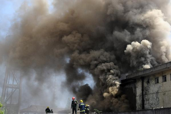 Storage catches fire in Nanchang, China's Jiangxi
