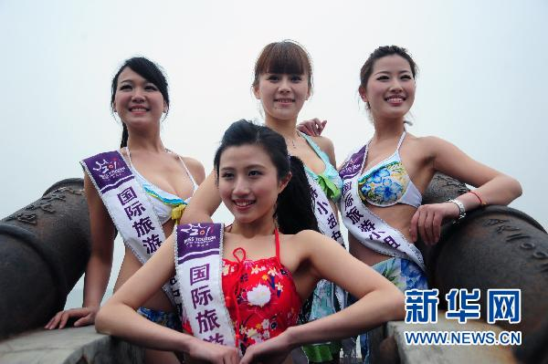 Beauties of Miss Tourism International visit Dalian