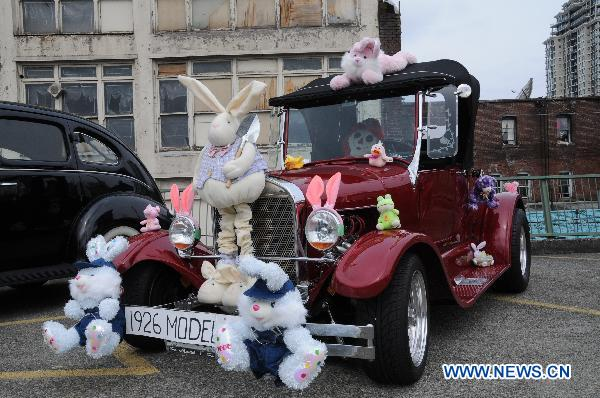 Antique car parade held on Easter Sunday in Canada