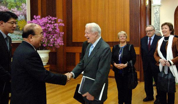 DPRK senior official meets former U.S. president Carter
