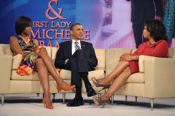 President Obama, First Lady tape Oprah show