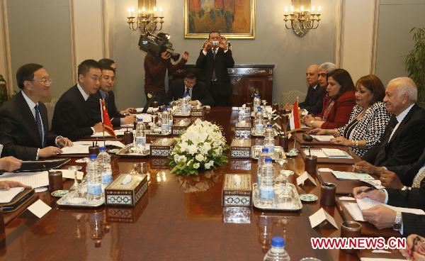 China, Egypt vow to strengthen cooperation