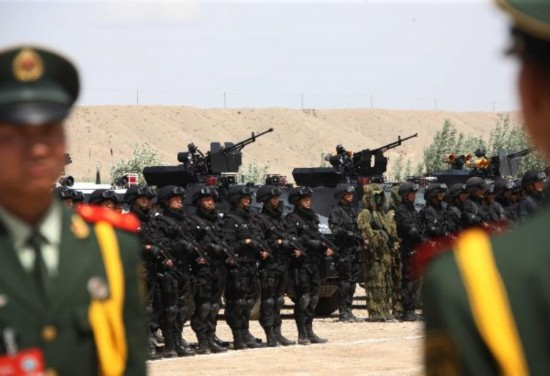 SCO joint anti-terror drill conducted in China's Xinjiang