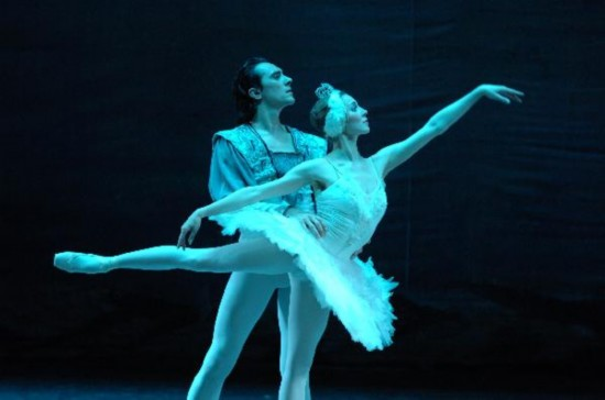 Russian dancers perform Tchaikovsky Swan Lake Ballet in Xi'an, China's Shaanxi
