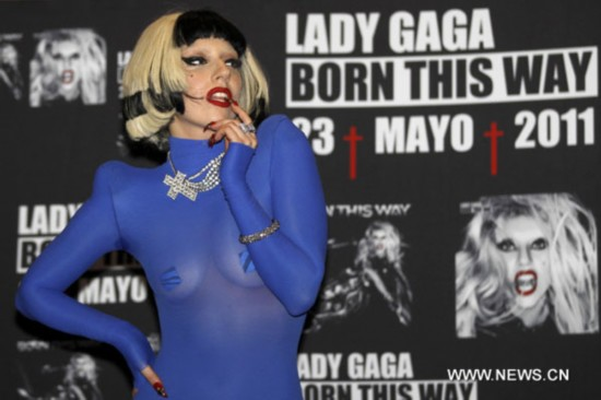 "Lady Gaga promotes new album ""Born This Way"" in Mexico"