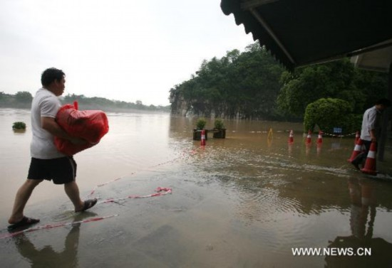 Guilin hit by downpour