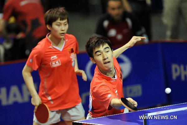 Chinese top table tennis seeds through in mixed doubles