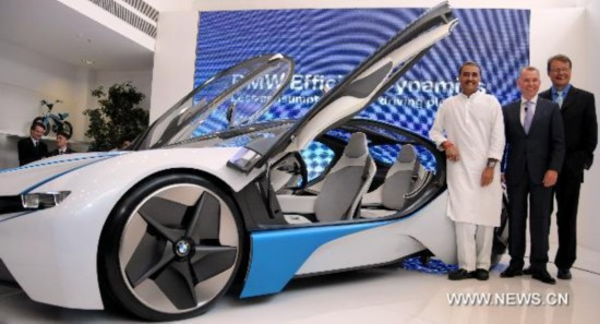 BMW efficient dynamics concept car displayed in India