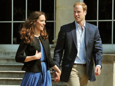 Prince William, Kate Middleton, leave palace