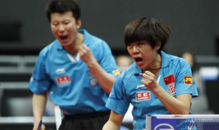 Chinese pair Zhang and Cao win mixed doubles title at table tennis worlds