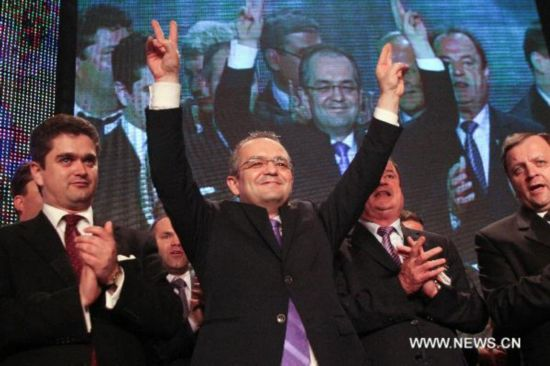 Romanian PM re-elected head of ruling party