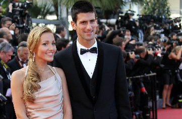 "Djokovic arrives for screening of ""The Beaver"" at Cannes"