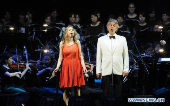 Andrea Bocelli holds concert in Taipei