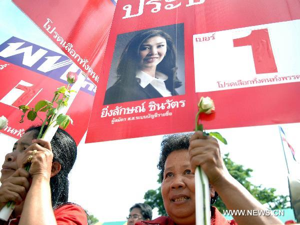 Thai candidates register for election