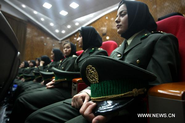 Afghan Army women officers' graduation ceremony