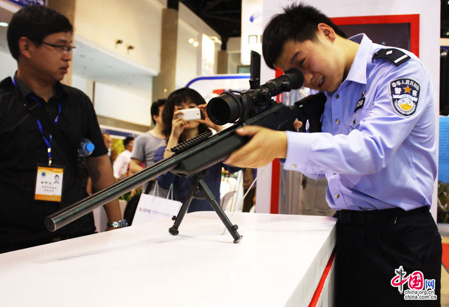 Glimpse of police, anti-terrorism equipment at Beijing exhibition