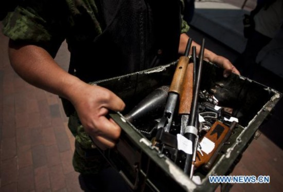 Local gov't in Mexico starts campaign to reduce arms in citizens