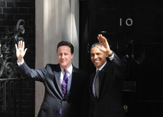 British PM Cameron meets U.S. President Obama in London
