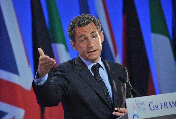 G8 summit not a place to discuss IMF successor: Sarkozy