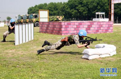 Chinese standby peacekeepers practice first military exercise