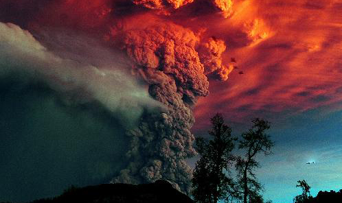 Volcano billows giant plume in Chile