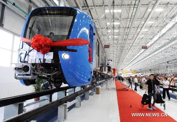 First EMU manufactured for Rio de Janeiro launched in Jilin