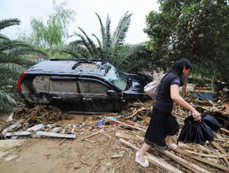 Rain-triggered floods cause damages in SW China's Guizhou