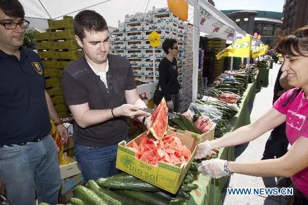 Free fruit, vegetables offered in Spain
