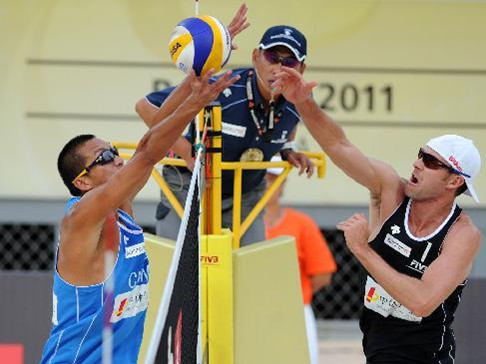 Beach volleyball grand slam ongoing in Beijing